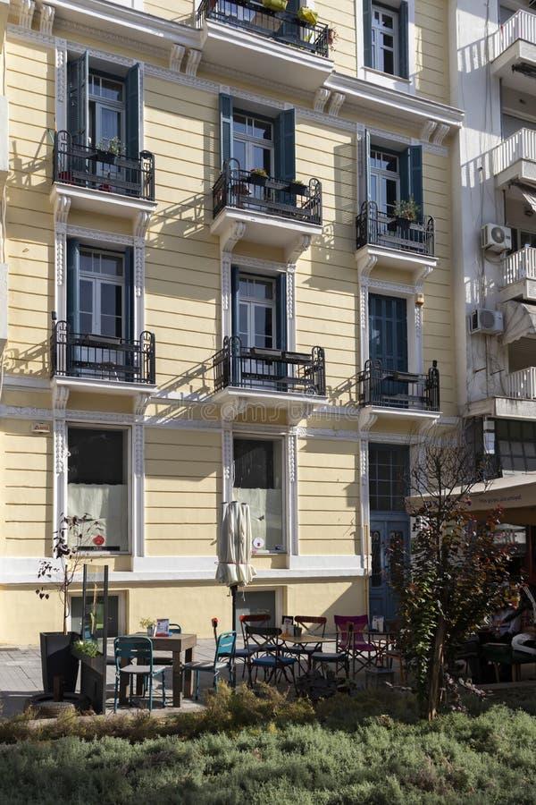 Ulica w Salonikach, Grecja fotografia royalty free
