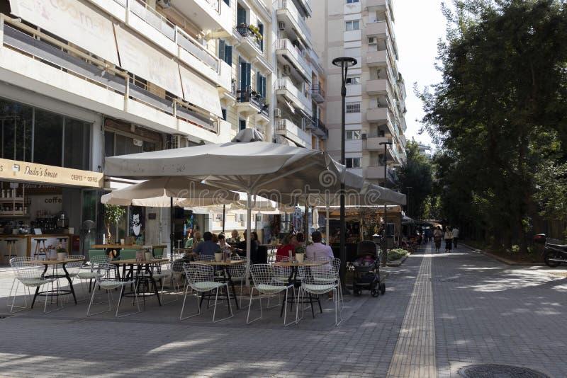 Ulica w Salonikach, Grecja zdjęcia stock