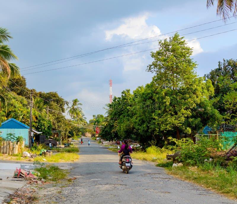 Ulica w Sihanoukville, Kambodża zdjęcie stock