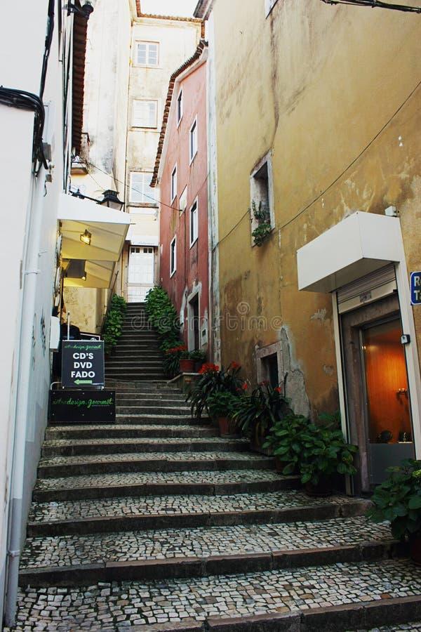Ulica w Sintra zdjęcia royalty free