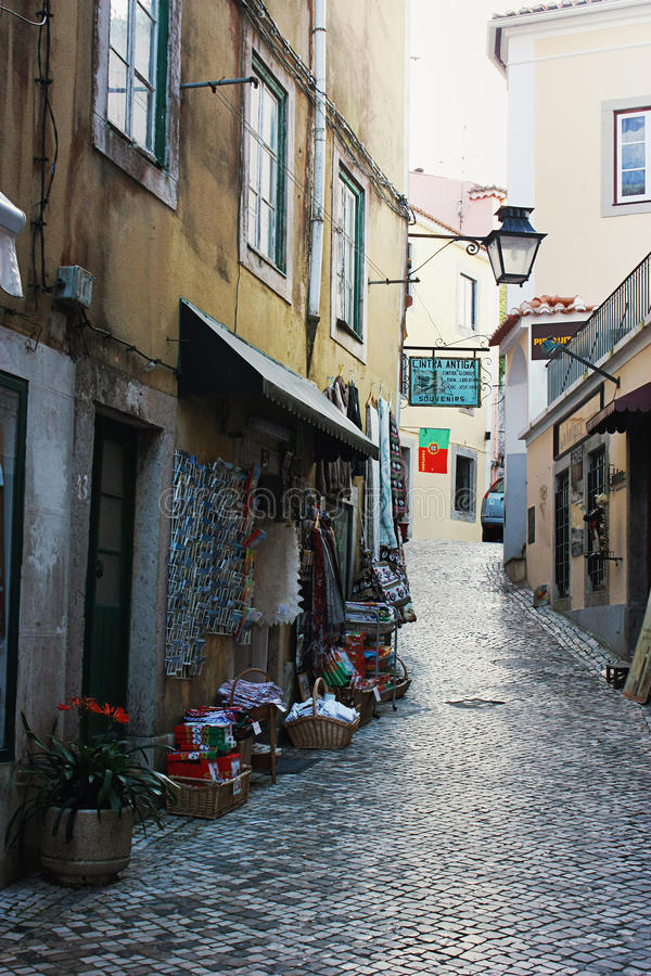 Ulica w Sintra zdjęcie royalty free