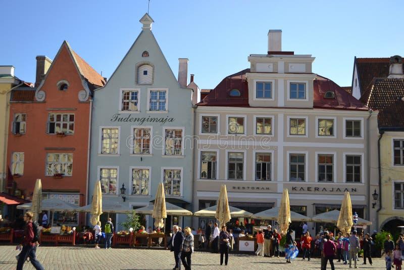 Ulica w Starym miasteczku Tallinn zdjęcia royalty free