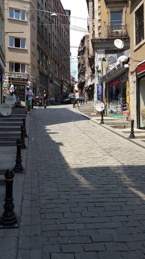 Ulica w starym mieście Istanbuł indyk zdjęcie royalty free