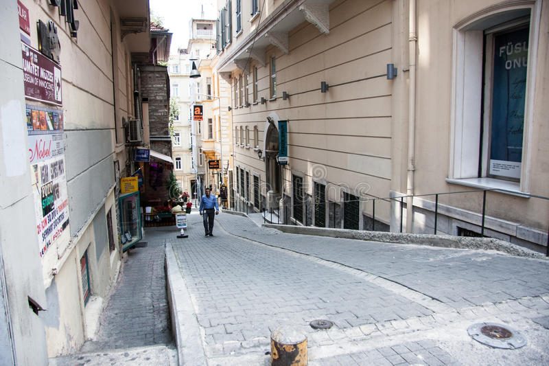 Ulica w starym mieście Istanbuł indyk fotografia royalty free