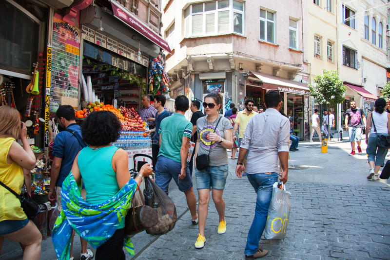 Ulica w starym mieście Istanbuł indyk zdjęcia royalty free