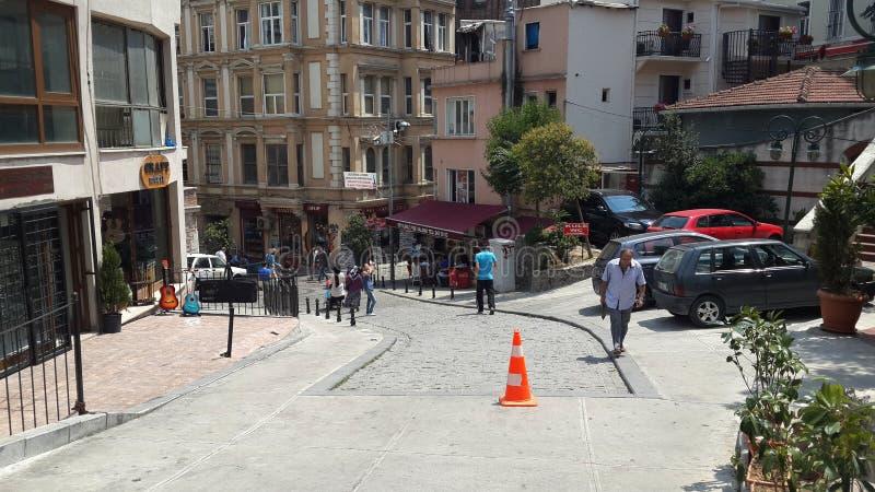 Ulica w starym mieście Istanbuł indyk obrazy stock