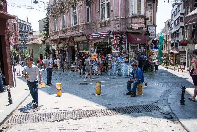 Ulica w starym mieście Istanbuł indyk zdjęcie stock
