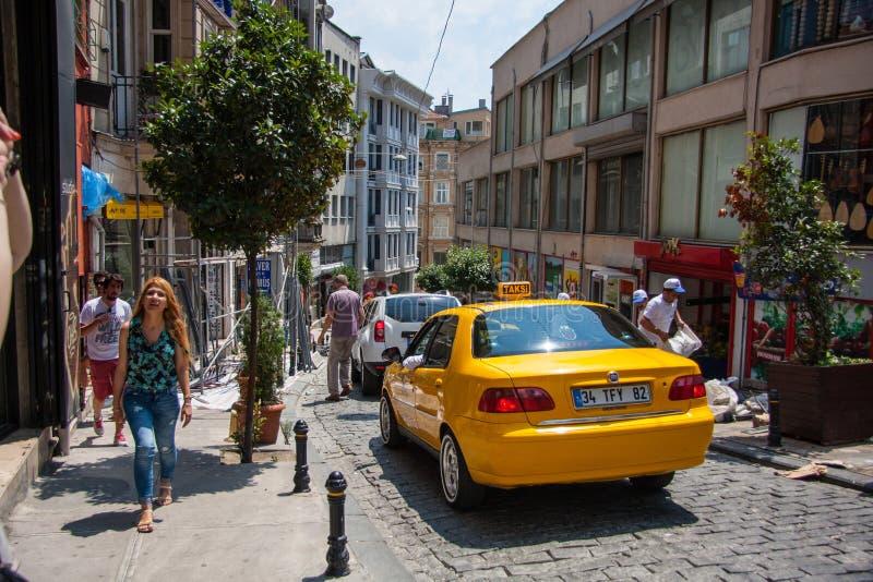 Ulica w starym mieście Istanbuł indyk fotografia stock