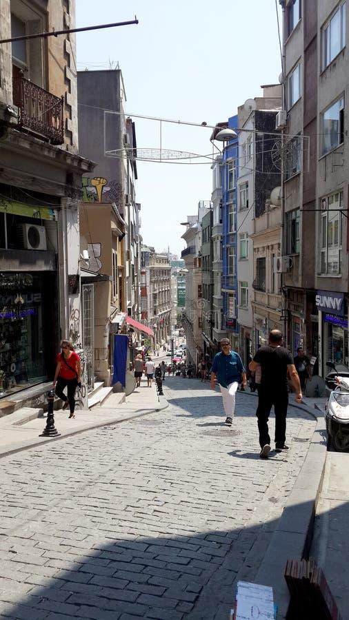 Ulica w starym mieście Istanbuł indyk obraz stock