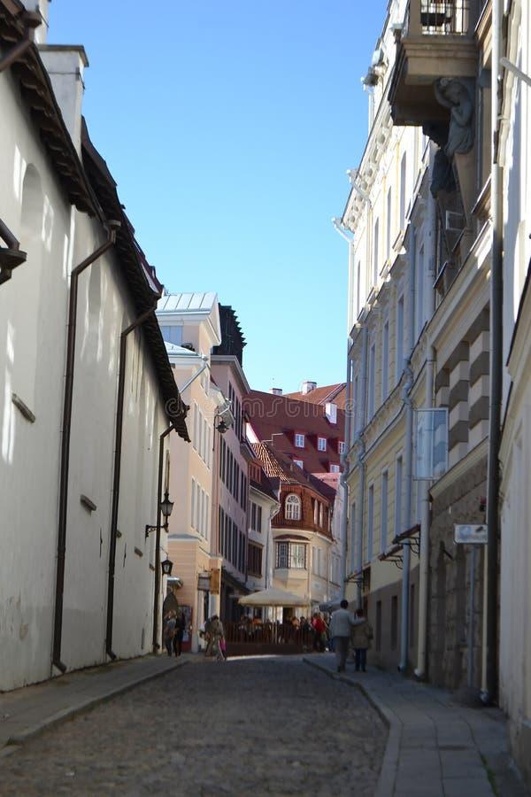 Ulica w Starym Tallinn obrazy royalty free
