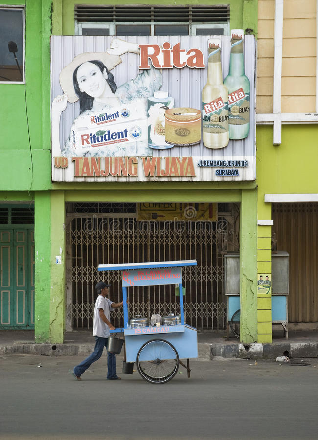 Ulica w Surabaya Indonesia obrazy stock