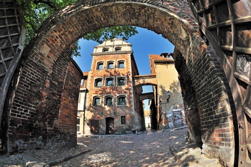 Ulica w Toruńskim, Polska obrazy royalty free
