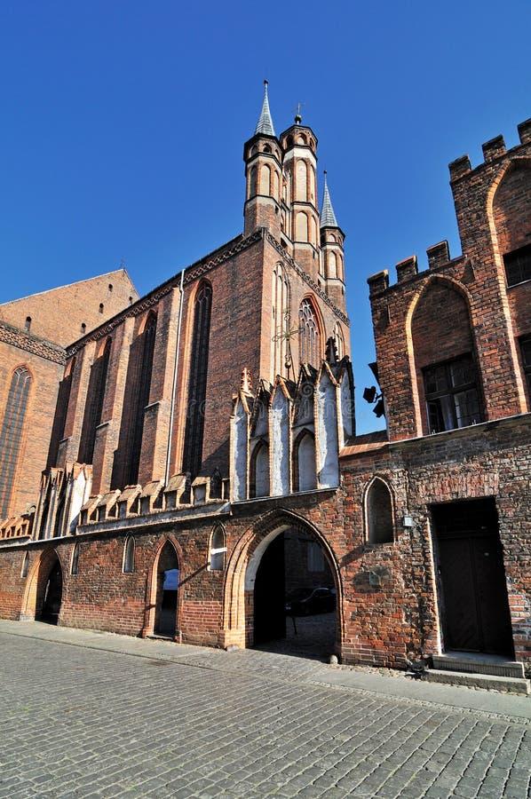 Ulica w Toruńskim, Polska zdjęcie royalty free