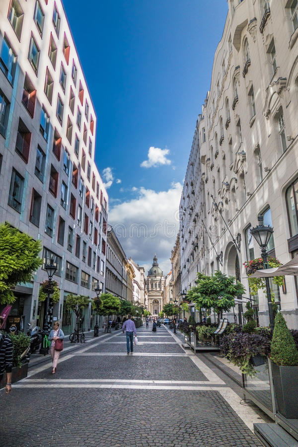 Ulica w Węgry zdjęcia royalty free