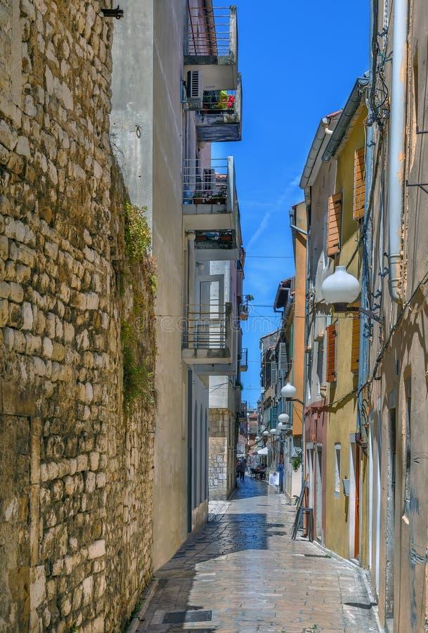 Ulica w Zadar, Croaria obraz royalty free