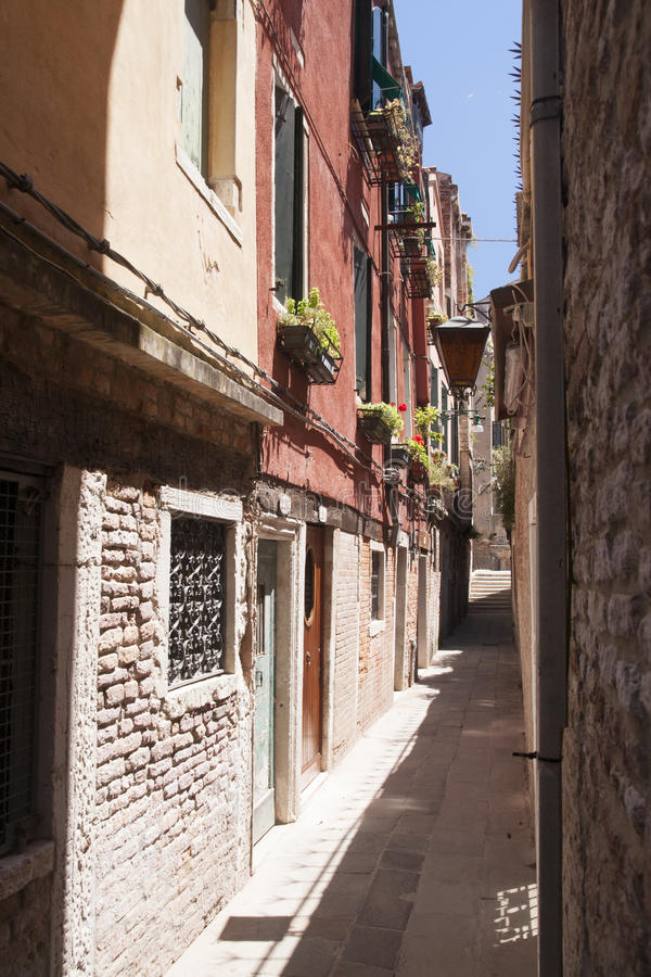 ulica Wenecji obraz royalty free