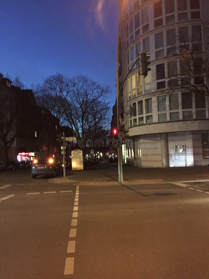 Ulica z graffiti przy nocą obraz royalty free