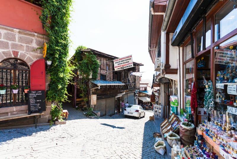Ulica z sklepami w Cankaya okręgu Ankara obraz royalty free
