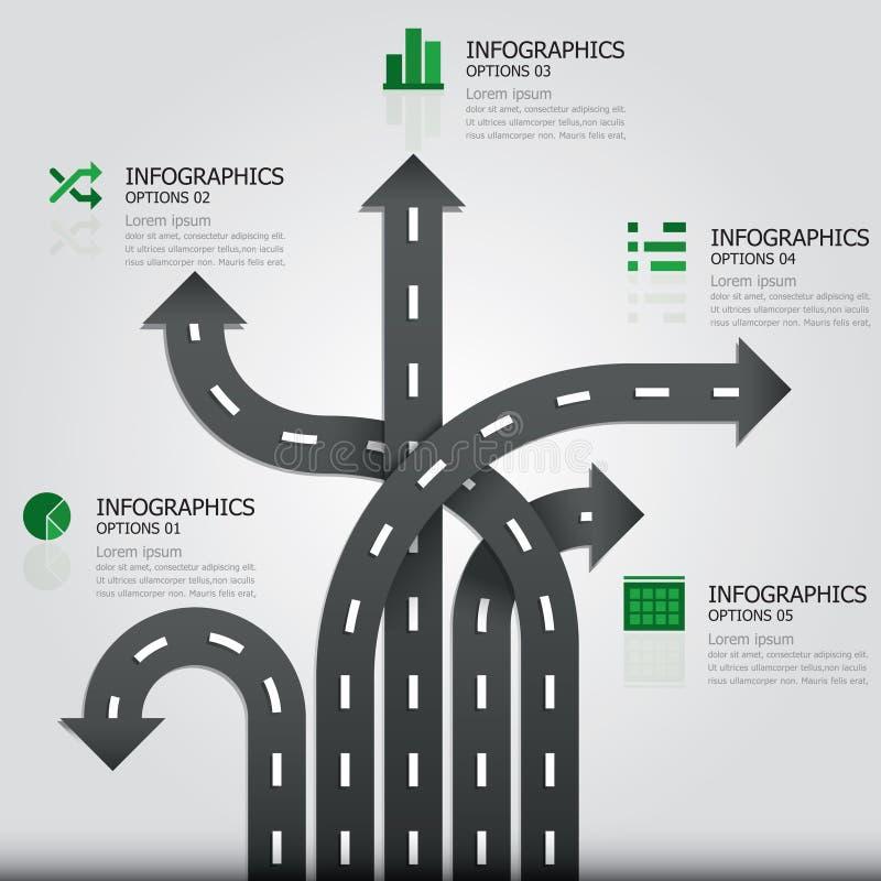 Ulica & znaka Infographics projekta szablon royalty ilustracja
