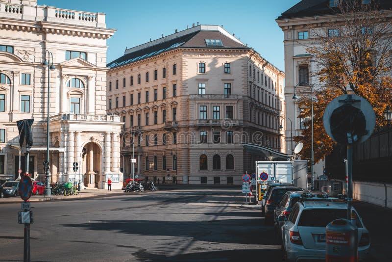 Ulice Wiednia z zabytkami obrazy royalty free