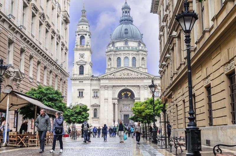 Ulicy środkowa część Budapest, Węgry fotografia stock