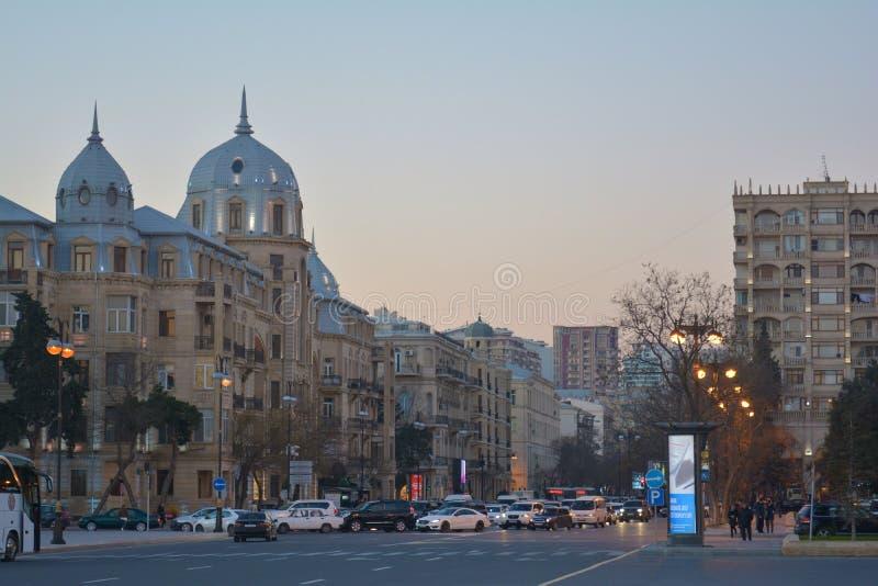 Ulicy Baku zdjęcia royalty free