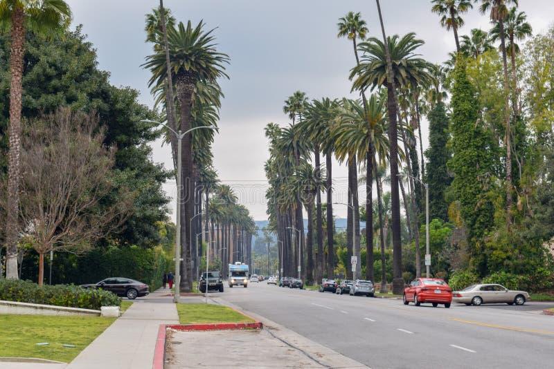 Ulicy Beverly Hills, Kalifornia zdjęcie royalty free