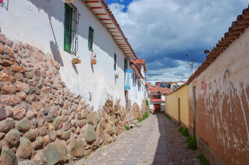 Ulicy Cuzco, Peru zdjęcia stock