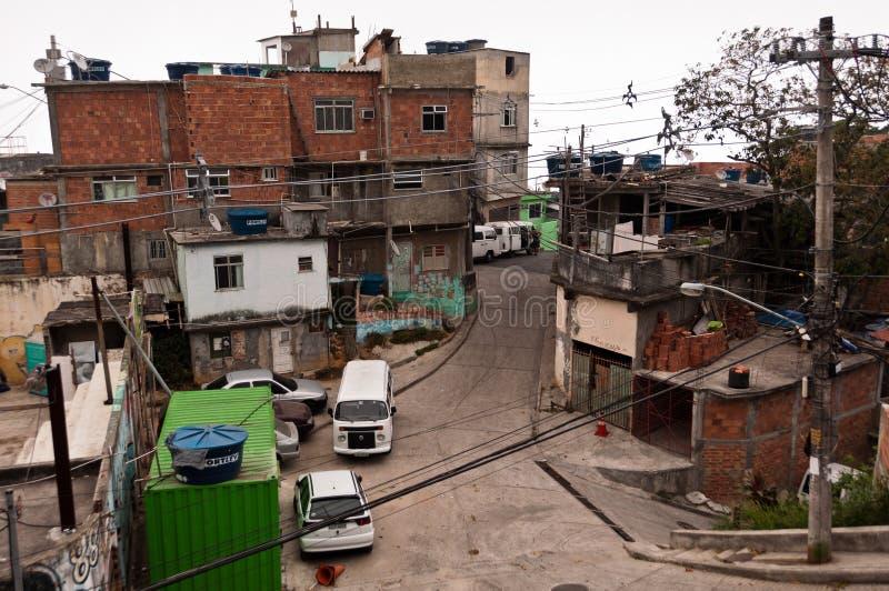Ulicy Favela Vidigal w Rio De Janeiro obrazy royalty free