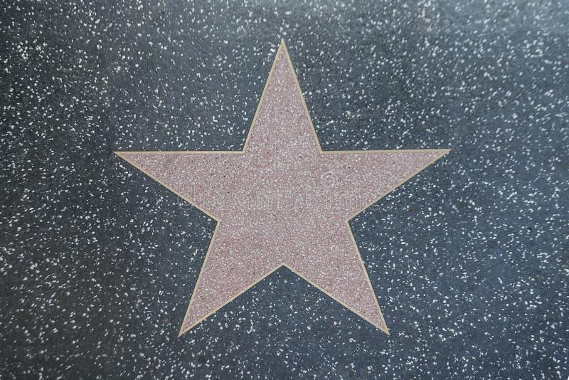 Ulicy gwiazda w Hollywood bulwarze obrazy stock