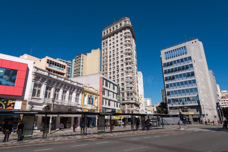 Ulicy i budynki Curitiba miasto obraz stock