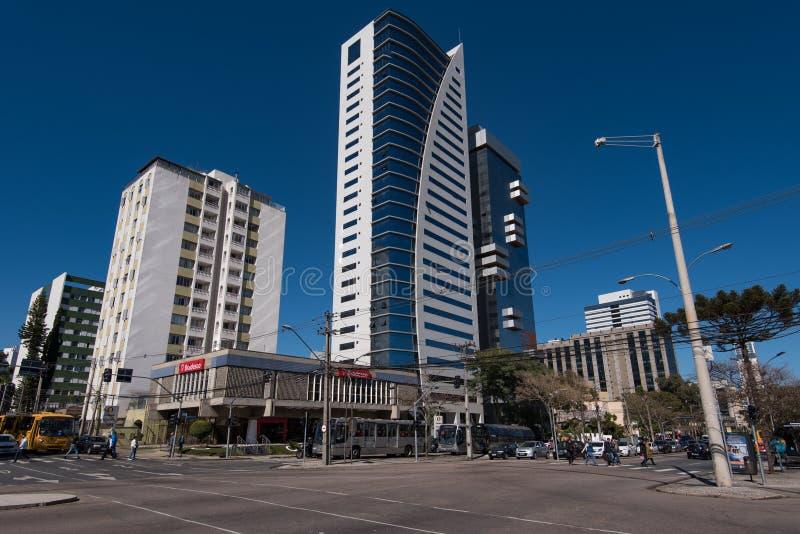 Ulicy i budynki Curitiba miasto zdjęcia royalty free
