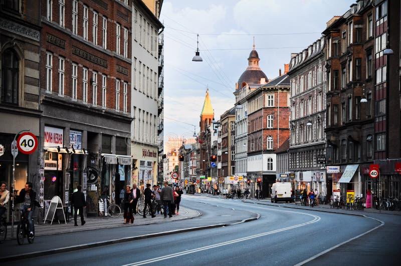 Ulicy Kopenhaga, Dani obraz stock
