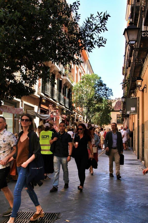 Ulicy listu sąsiedztwo w Madryt zdjęcie stock