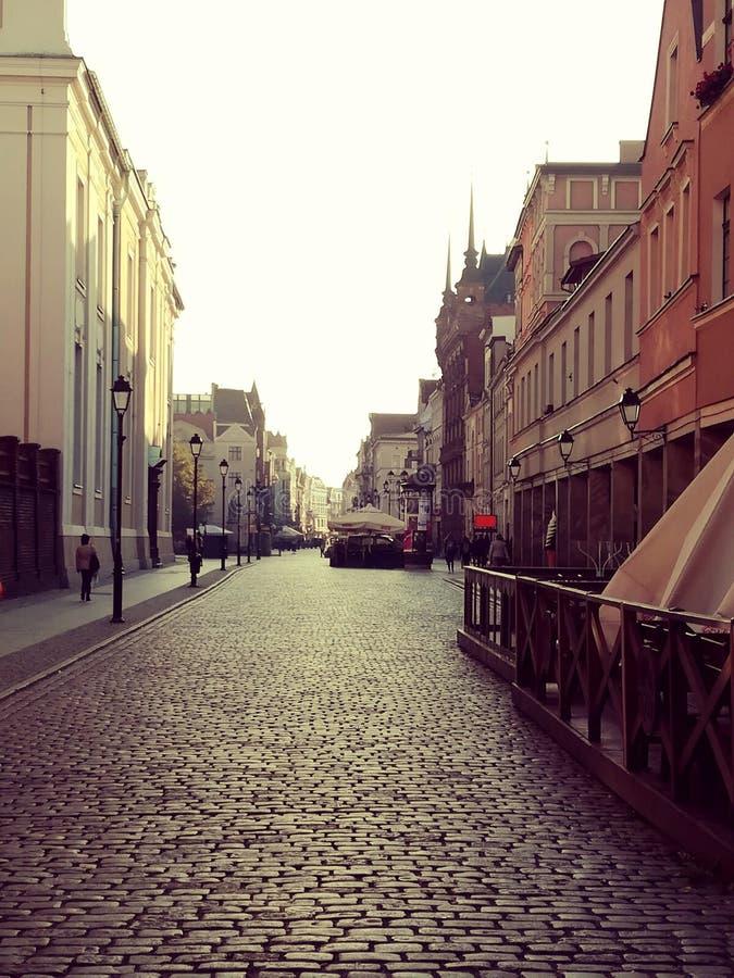 Ulicy stary Europejski miasteczko obrazy royalty free