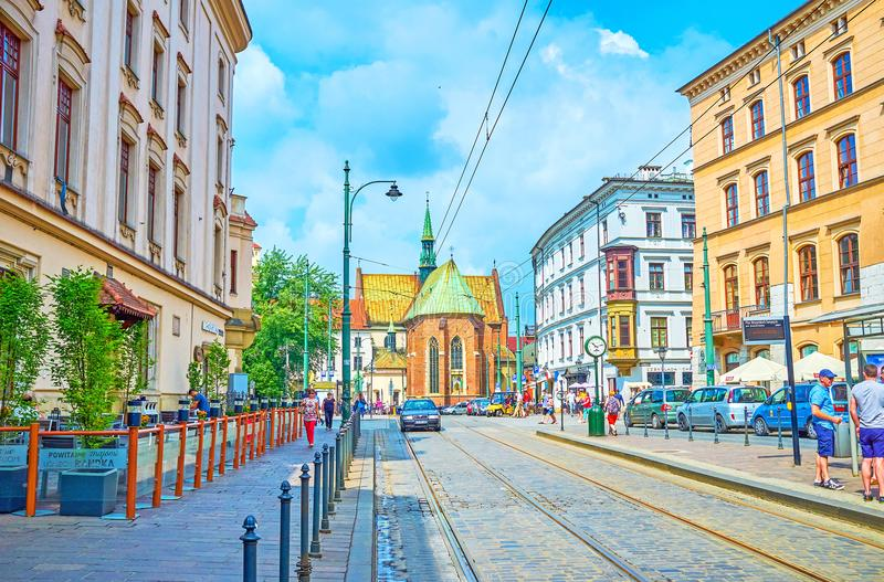 Ulicy stary Krakow, Polska zdjęcie stock
