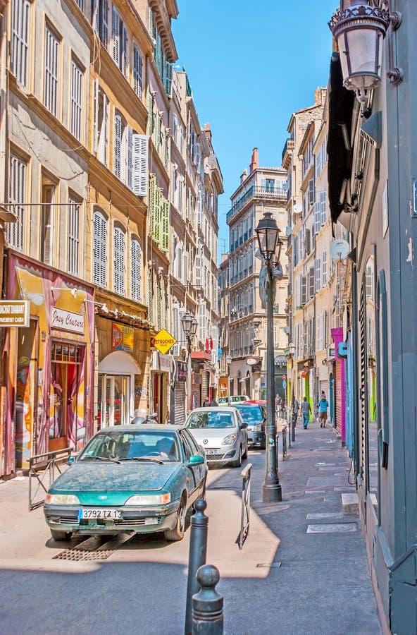 Ulicy stary Marseille fotografia stock