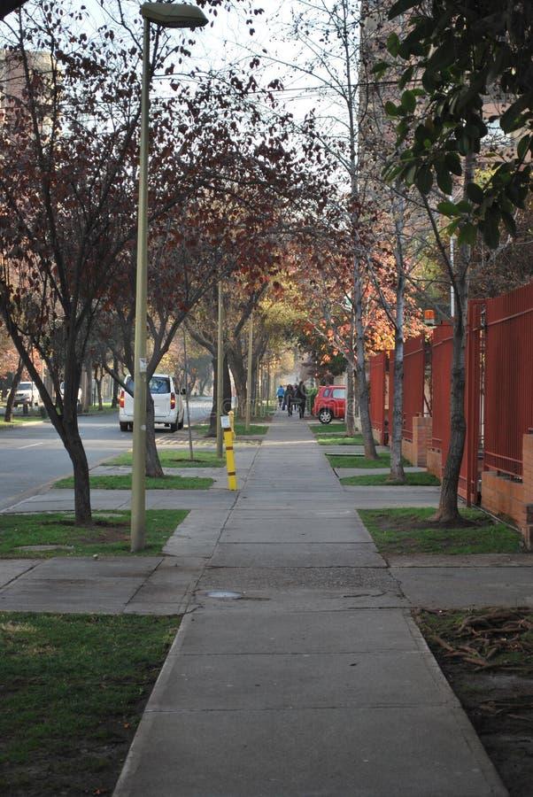 Ulicy w Santiago, Chile fotografia stock