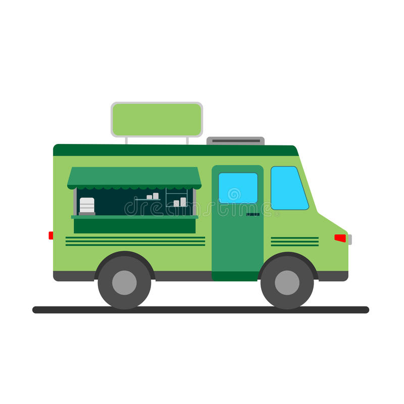 Uliczna jedzenie ciężarówki ilustracja royalty ilustracja