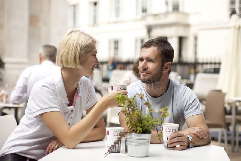 Uliczna kawiarnia zdjęcia stock