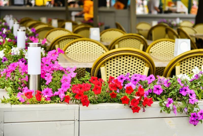 Uliczna lato kawiarnia zdjęcia royalty free