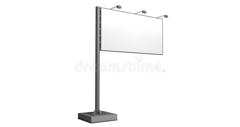 Uliczna plenerowa billboard reklama obraz stock