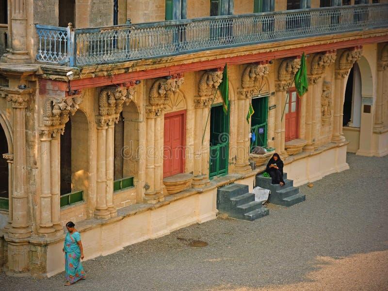 Uliczna scena w Gondal w Gujarat stanie, India fotografia royalty free