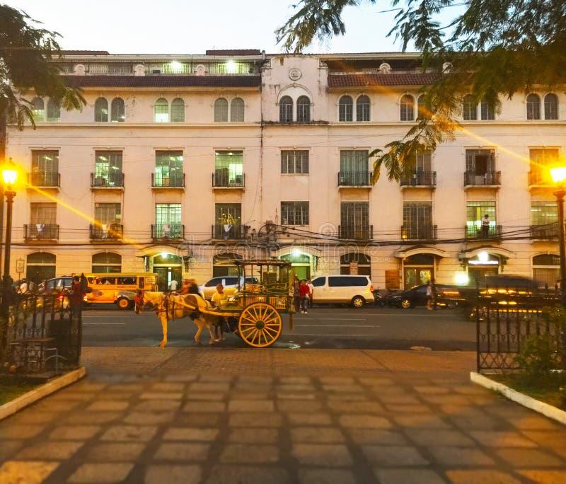 Uliczna scena w Manila zdjęcie stock