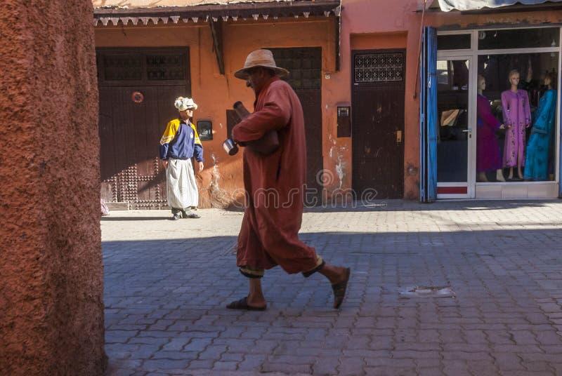 Uliczna scena w Marrakech obrazy royalty free