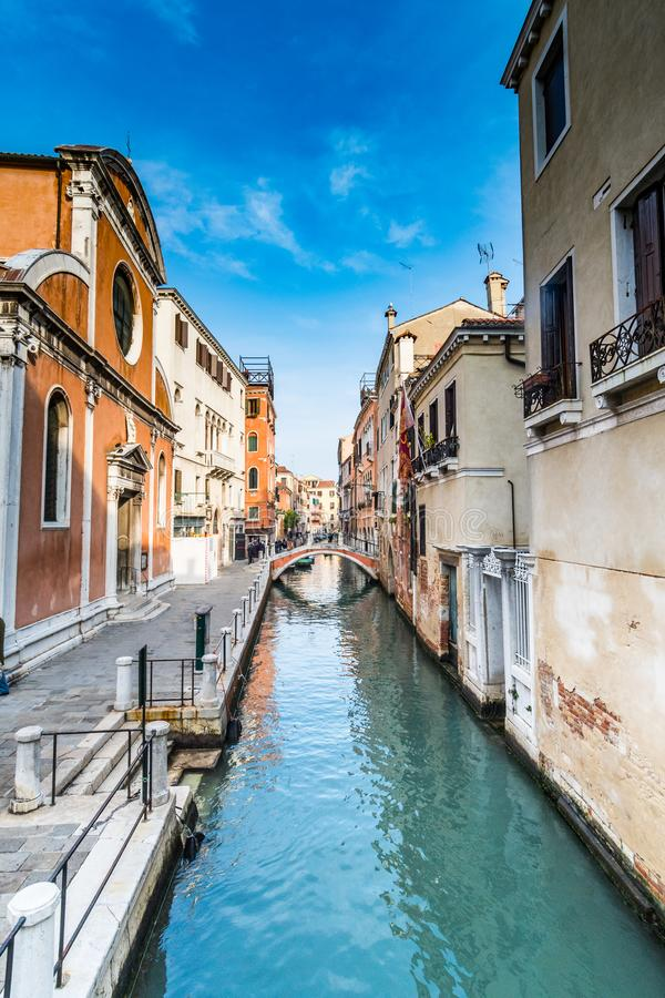 Uliczna scena w Wenecja, Włochy obrazy stock