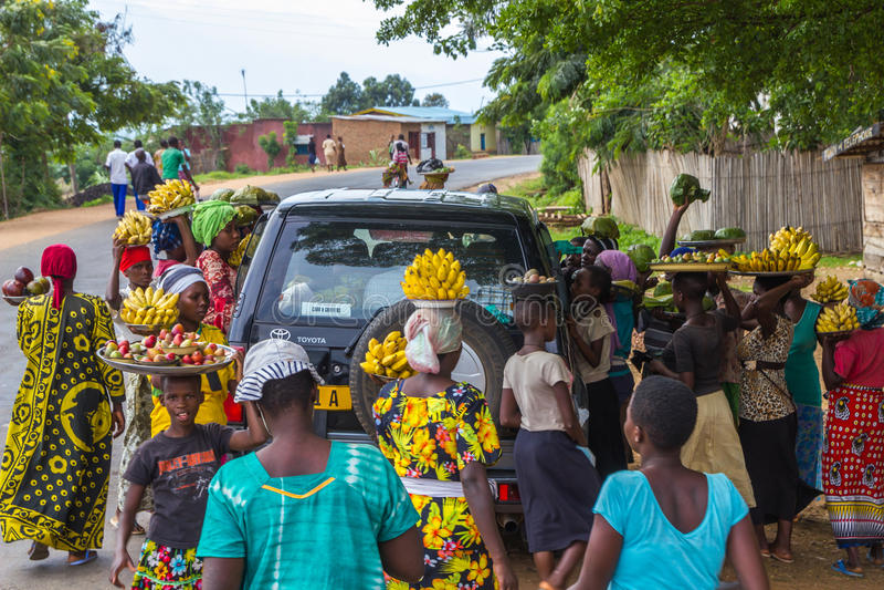 uliczna sprzedaż w Burundi fotografia stock