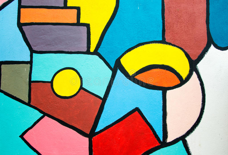 Uliczna sztuka - abstrakcjonistyczny obraz na ścianie kreatywne tło obrazy stock