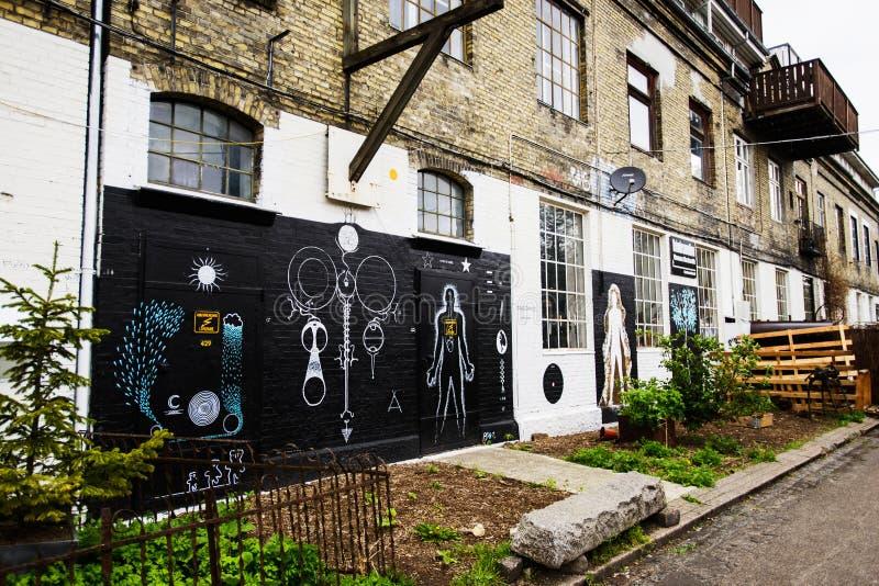 Uliczna sztuka przy ścianami Freetown Christiania fotografia stock