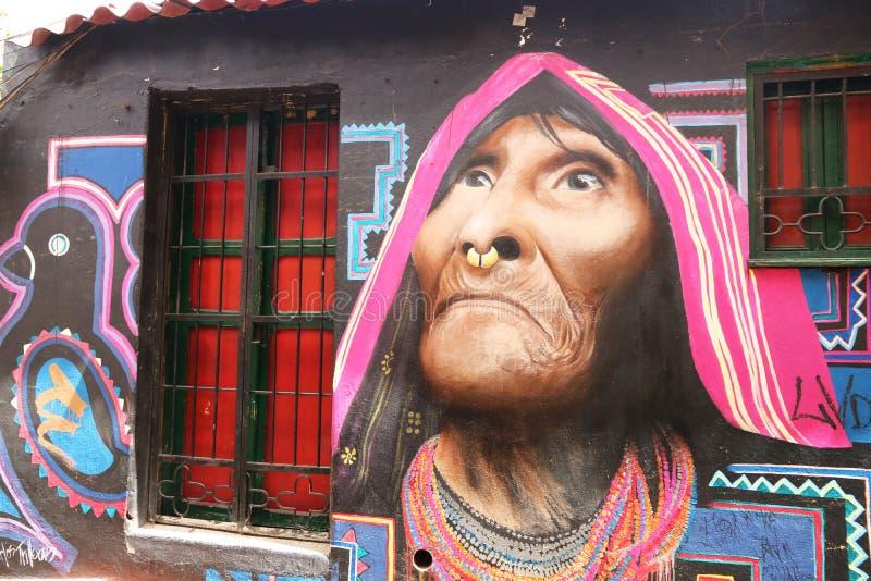 Uliczna sztuka w Bogota, Kolumbia obrazy royalty free